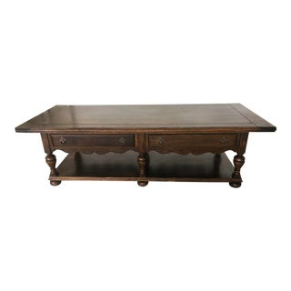 1970s Vintage Ethan Allen Royal Charter Coffee Table For Sale