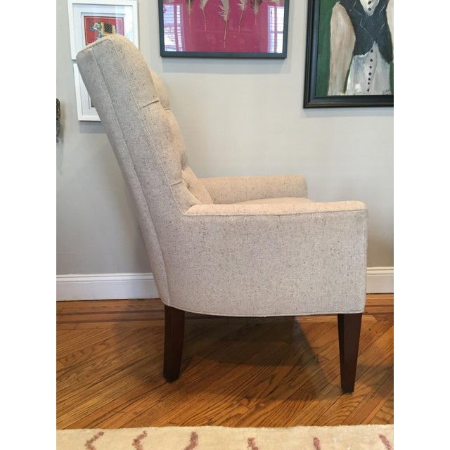 Custom Tufted Wingback Chair - a Pair - Image 3 of 11