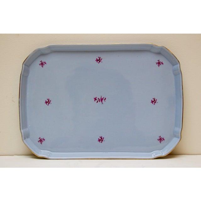 German Blue & Gold Porcelain Vanity Tray - Image 2 of 5
