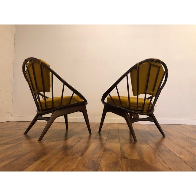 Ib Kofod Larsen for Selig Mid-Century Peacock Lounge Chairs - a Pair For Sale In Seattle - Image 6 of 13
