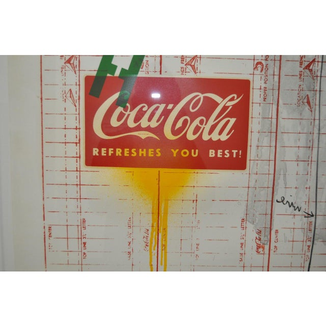 """Circa 1971 """"Coca Cola"""" Signed Color Lithograph By Jasper Johns For Sale In San Francisco - Image 6 of 9"""