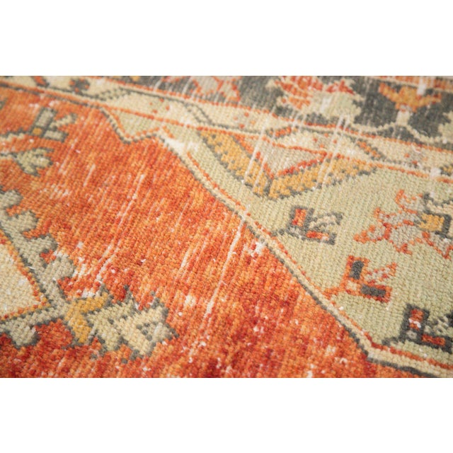 """Vintage Distressed Oushak Rug Runner - 2'7"""" X 5' For Sale In New York - Image 6 of 10"""