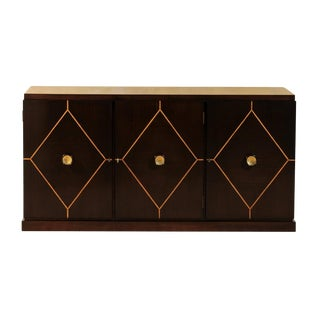 Elegant Restored Mahogany Cabinet or Buffet by Tommi Parzinger for Charak Modern For Sale