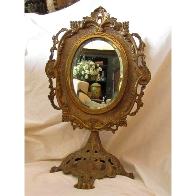 Antique Bronze Frame Swivel Mirror - Image 2 of 5