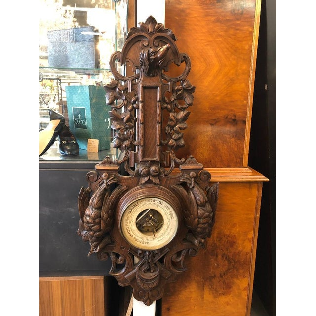 19th Century French Black Forest Louis XIII Barometer For Sale In Atlanta - Image 6 of 6