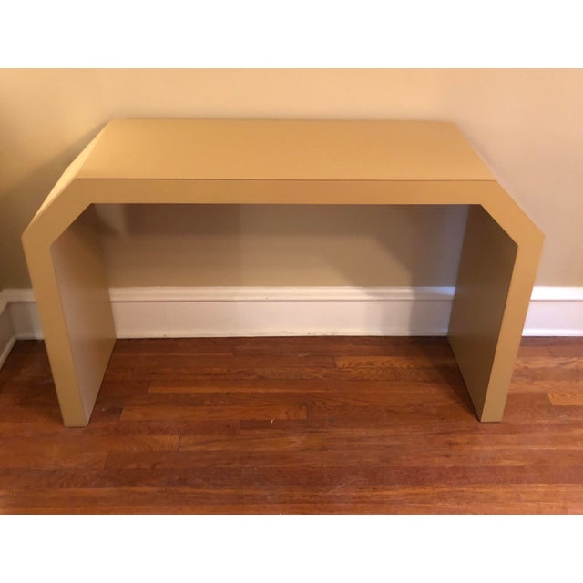 Wood Sculptural Console Table For Sale - Image 7 of 8