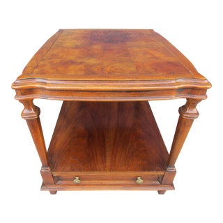 Ethan Allen End Table -Burlwood Top