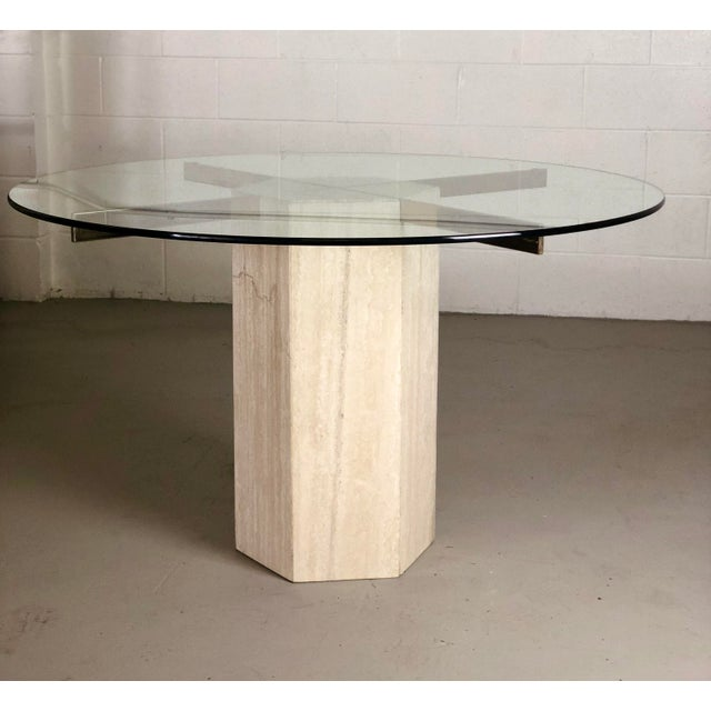 We are very pleased to offer a modern, sleek, dining or center table by Artedi, circa the 1970s. This contemporary piece...