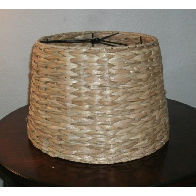 Textile Woven Rattan Lamp Shade For Sale - Image 7 of 7