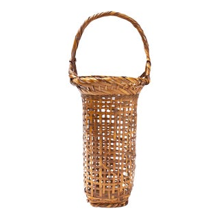Seiseisai Signed Flower Basket For Sale