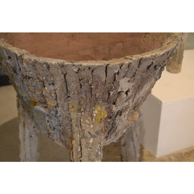 Cement Faux Bois Planters From Belgium, - a Pair For Sale In Nashville - Image 6 of 11