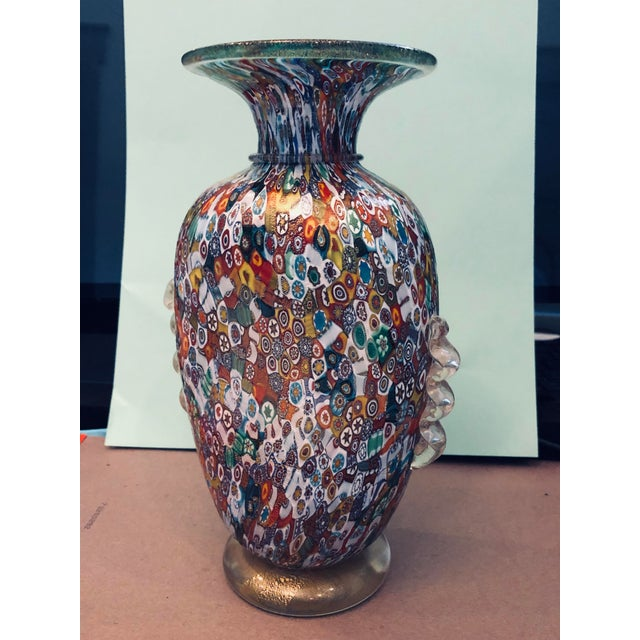 Venetian Blown-Glass Millefiori Vase For Sale - Image 9 of 9