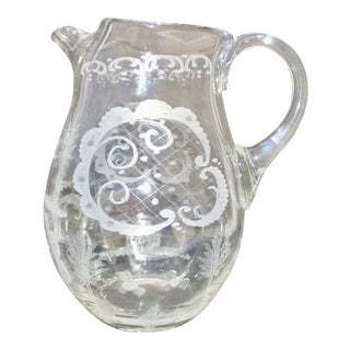 1900s Vintage Lobmeyr Large Water Pitcher For Sale