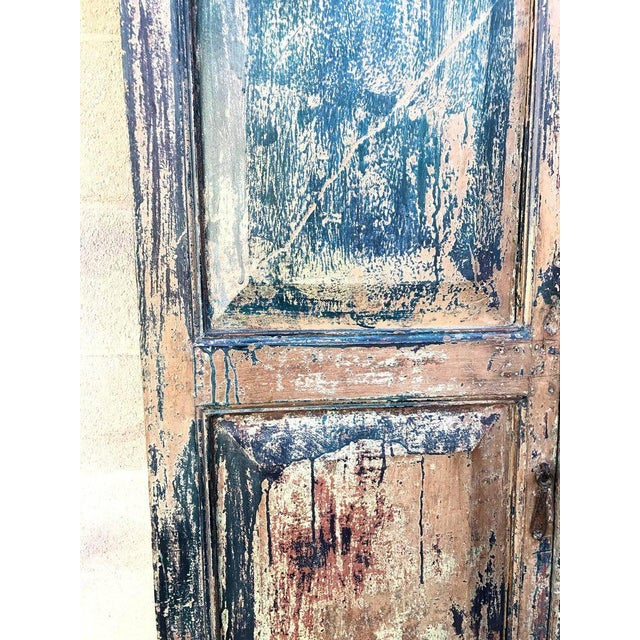 Pair of 19th Century Painted Doors For Sale In Los Angeles - Image 6 of 9