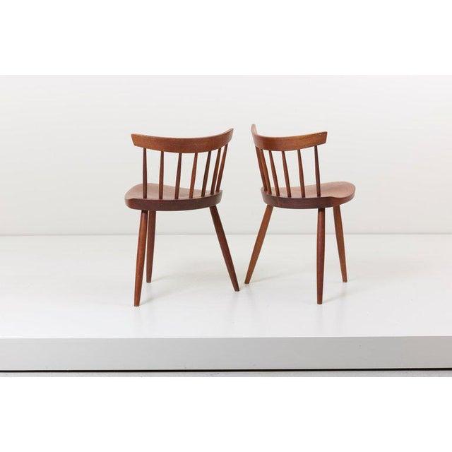 George Nakashima Pair of George Nakashima Studio Mira Nakashima Mira Chair in Walnut For Sale - Image 4 of 10