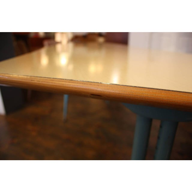 1950s French Laminated Plywood and Steel Adjustable Table - Image 9 of 10