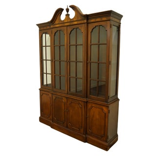 """Wellington Hall Traditional Style Flame Mahogany 64"""" Illuminated Display Breakfront China Cabinet Preview"""