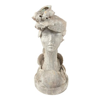 """1990s """"Sea Queen"""" Woman Bust Sea Shell Sculpture For Sale"""