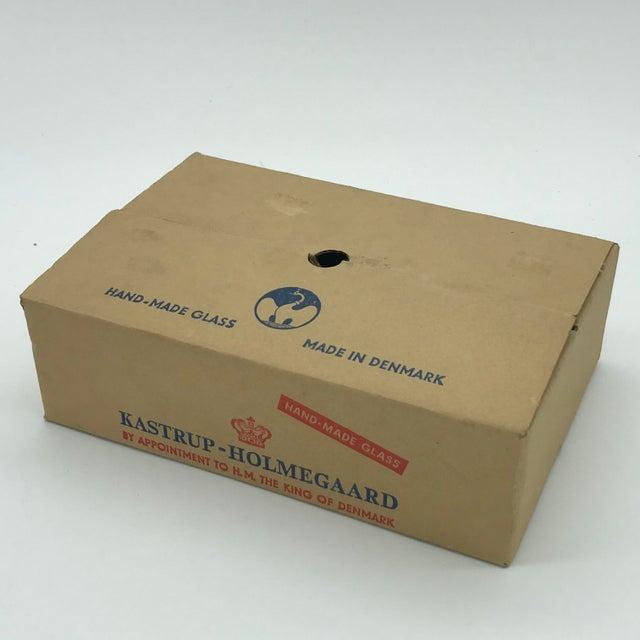 Mid Century Danish Modern Kastrup-Holmegaard Smoke Copenhagen No. 4 Cocktail Glass Set in Box For Sale - Image 9 of 11