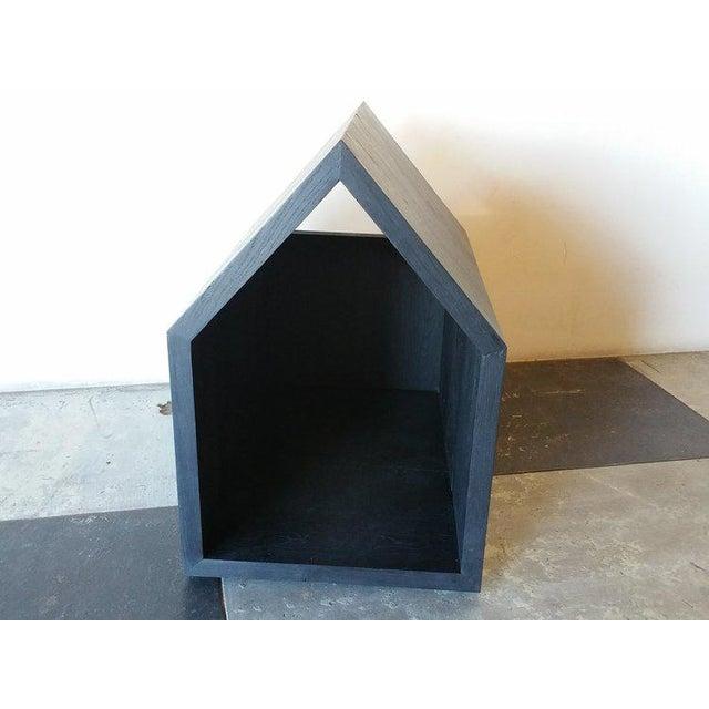 2010s Ozshop Natural or Ebonized Reclaimed French Oak Dog Houses For Sale - Image 5 of 5