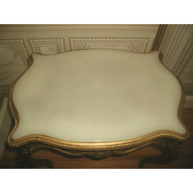French 1850s French Regency Gilt & Alabaster Table For Sale - Image 3 of 8