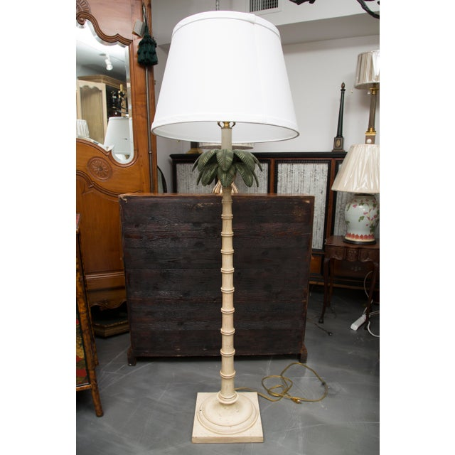 Polychromed Tole Palm Tree Floor Lamp - Image 6 of 6