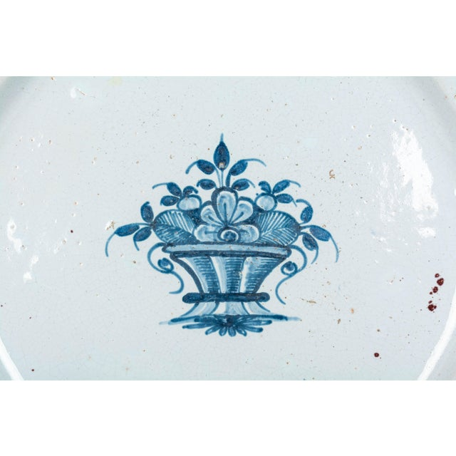 18th Century French Rouen Ceramic Platter For Sale In Orlando - Image 6 of 9
