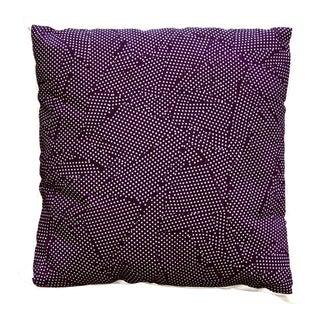 "Blackberry Color ""Dots"" Design Throw Pillow For Sale"