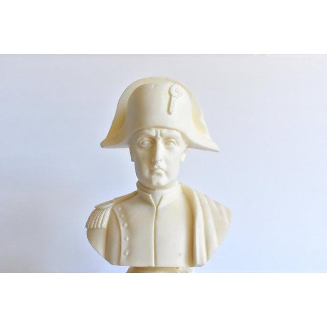 Ivory Vintage Italian Resin Napoleon Bust on Pedestal For Sale - Image 8 of 12