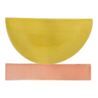 """2010s Abstract Original Painting, """"Lillet Bowl"""" by Jenny Andrews Anderson"""