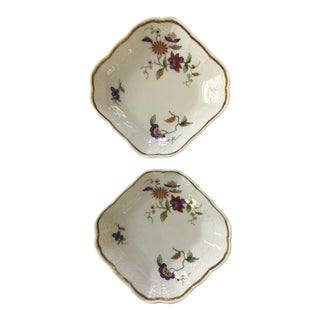 Mid Century Italian Richard Ginori Floral Porcelain Trays - Set of Two For Sale