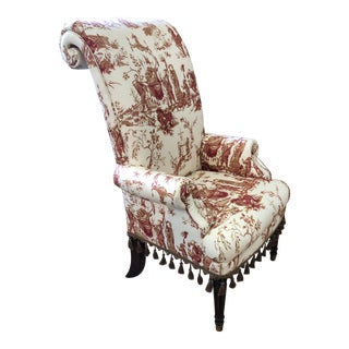 Drexel Heritage Toile Chair For Sale