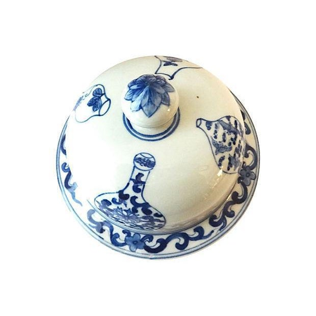 LG Hand-Painted Blue & White Ginger Jar - Image 5 of 7