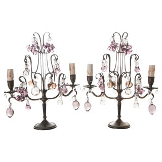 French 19th Century Candelabra Lamps - a Pair For Sale