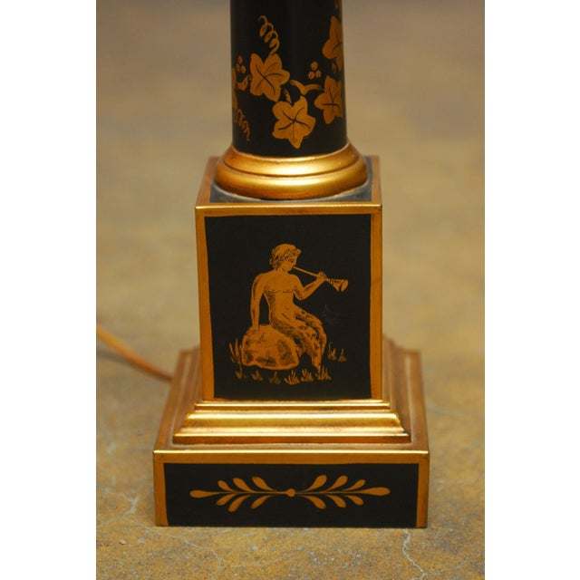 French Empire Neoclassical Tole Lamp - Image 2 of 5