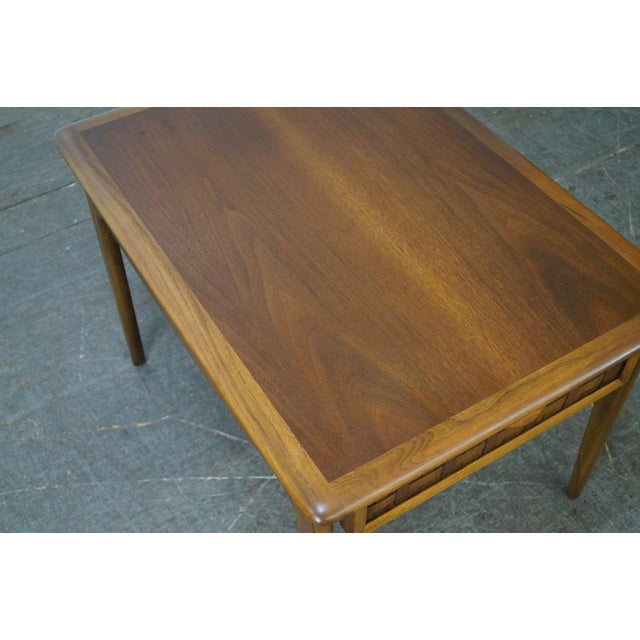 """Lane """"Perspective"""" Walnut End Tables - A Pair - Image 4 of 10"""