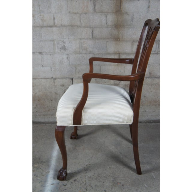 Early 20th Century Chippendale Style Mahogany Dining Arm Chair, Ball & Claw Feet For Sale - Image 5 of 12
