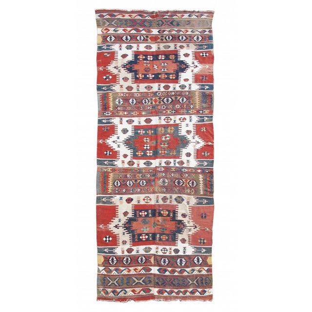 Karapinar Kilim Rug - 5′4″ × 13′ For Sale In San Francisco - Image 6 of 6