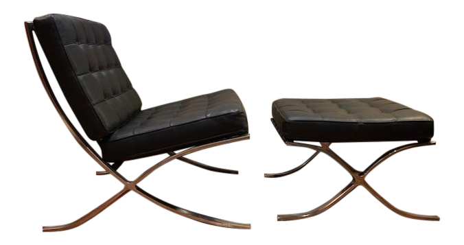Barcelona Mies Van Der Rohe Pavilion Chair U0026 Ottoman