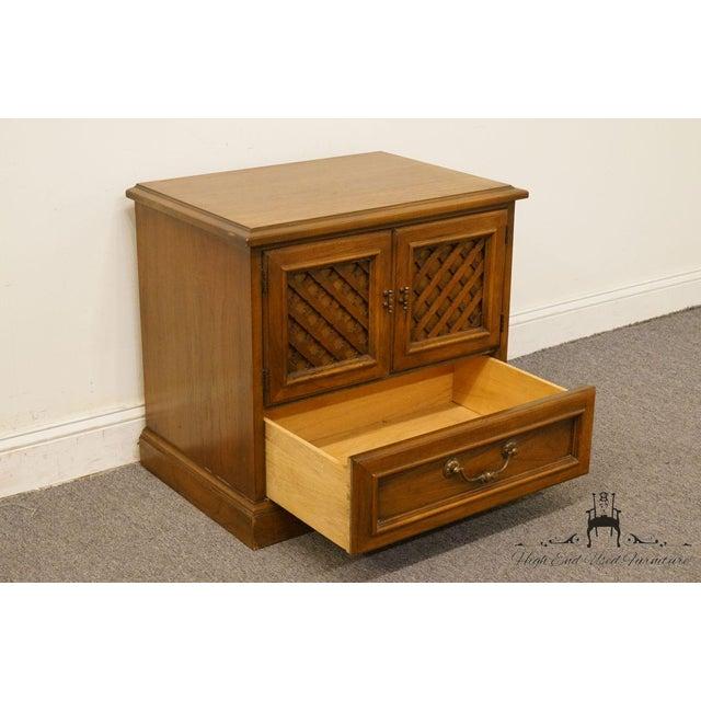 "Brown Drexel Esperanto Collection Spanish Mediterranean 26"" Cabinet Nightstand 401-620 For Sale - Image 8 of 13"