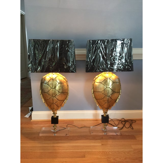 Magnificent Hand Crafted Faux Tortoise Lamps - 2 - Image 2 of 9