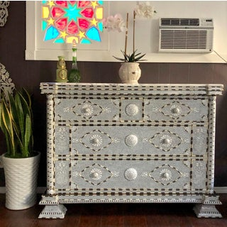 Moorish All White Mother of Pearl Inlay Dresser Preview