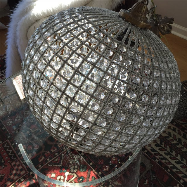 Large Crystal Sphere Chandelier For Sale In Atlanta - Image 6 of 6