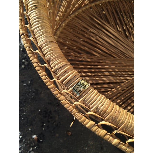 Brown Bohemian Wicker Bassinet For Sale - Image 8 of 11