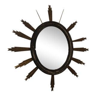 Antique Sunburst Wall Mirror For Sale