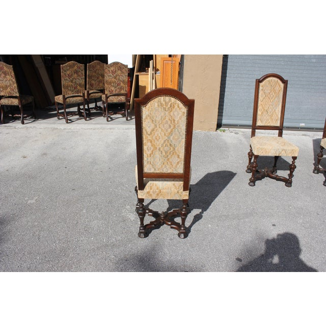1900s Vintage French Louis XIII Style Dining Chairs - Set of 6 For Sale - Image 12 of 13