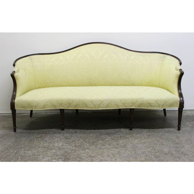 Wood Wrapped French Sofa For Sale - Image 4 of 8