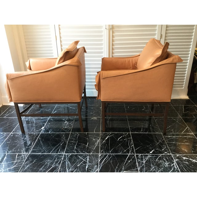 1990s Vintage Leather Chairs- a Pair For Sale - Image 4 of 13