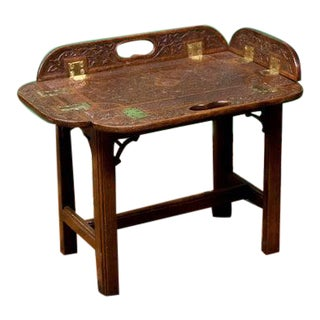 1890s Carved Miniature Butler Tray Coffee Table For Sale