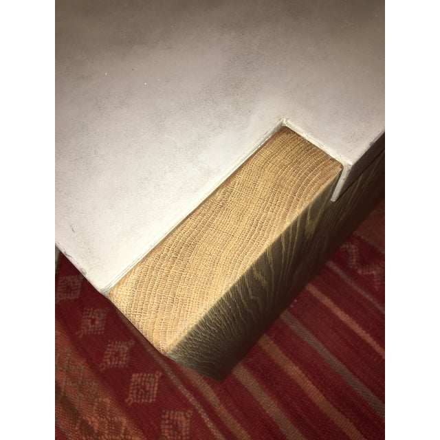 Concrete Top Coffee Table For Sale In Charleston - Image 6 of 8